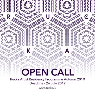 Open call for Rucka Artist Residency programme Autumn 2019